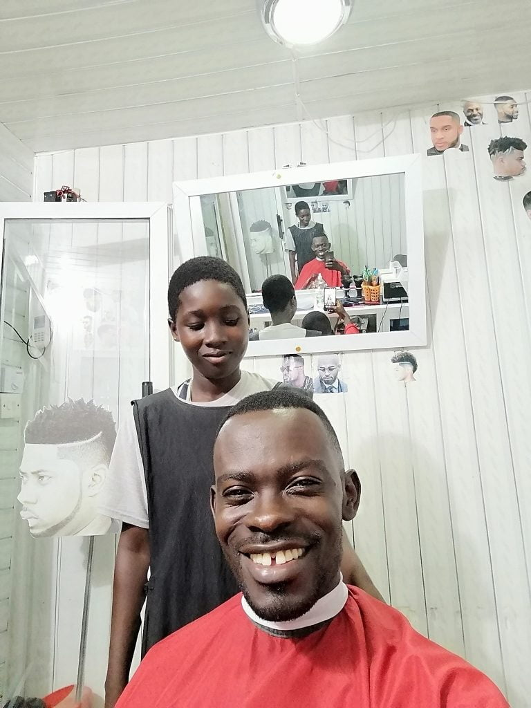 Meet the Free SHS Girl who works as a Barber to save Money for University - Photos