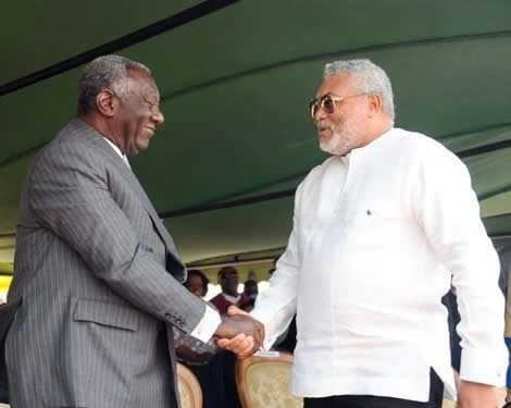 Rawlings and Kufuor exchanged pleasantries