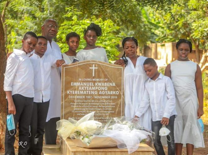 Lydia Alhassan visits husband's grave