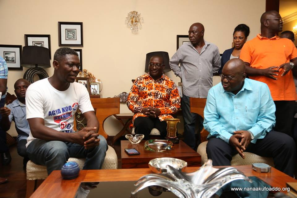 Agya Koo in NPP top sitting with the president