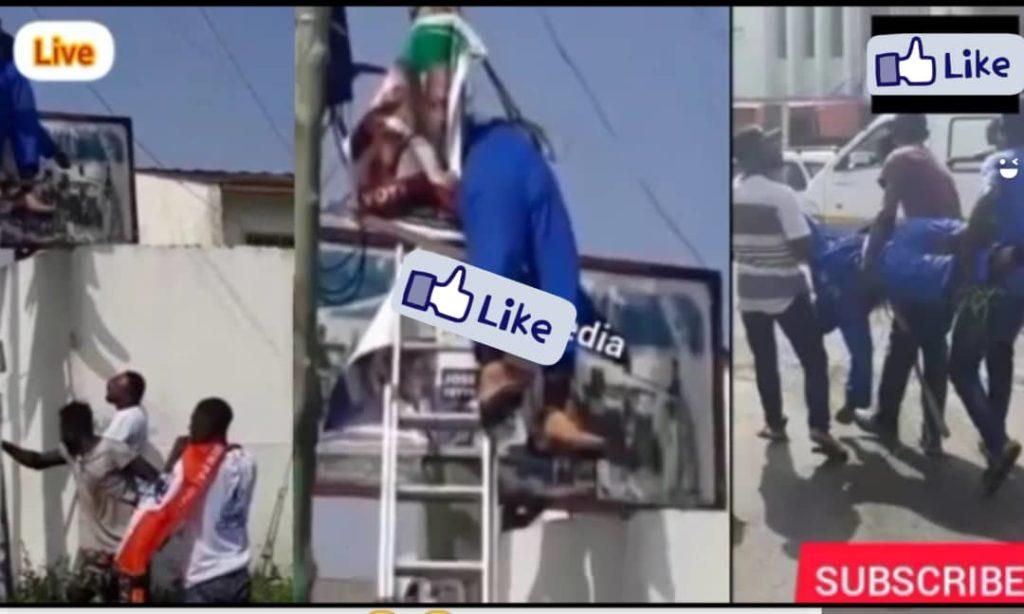 Man dies on electric pole