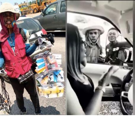 nana aba anamoah makes a street hawker a presenter
