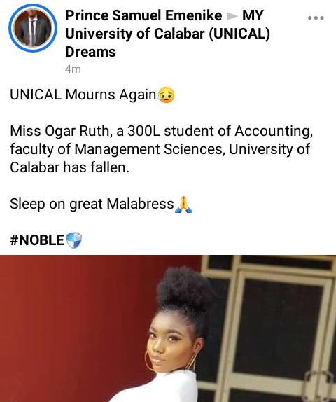 Beautiful level 300 university student dies in her sleep - Photos