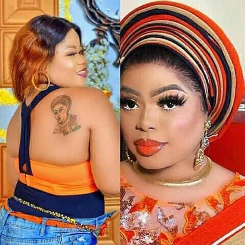 Bobrisky gives N1 million cash to a die-hard fan who tattooed his image on her back