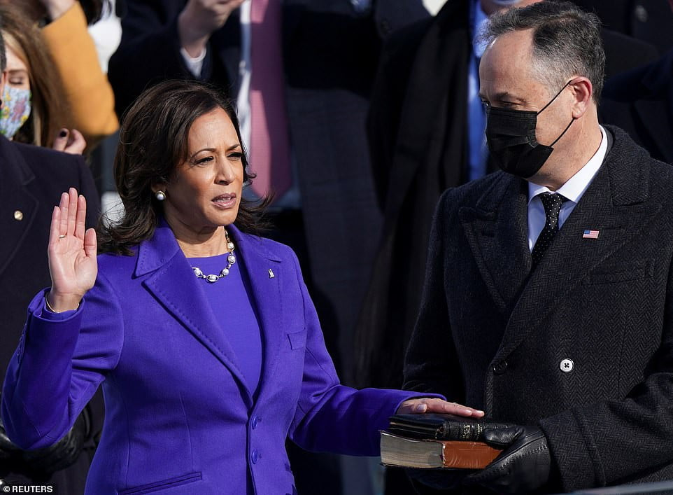 Here are hotos from Joe Biden's swearing-in ceremony