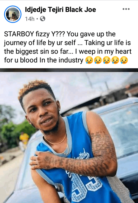 Upcoming artiste reportedly commits suicide after pastor told his mother he wants to use her for 'Juju' - Photos