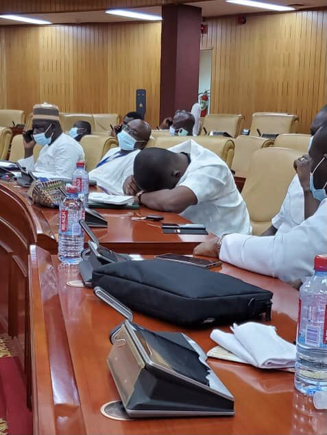 NPP MPs doze off in parliament after arriving at 4 am to occupy majority seats