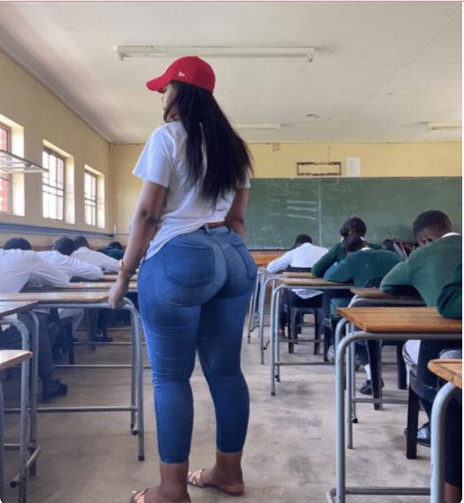 Beautiful Teacher With Heavy Backside  causes a stir on Social Media (Photos)