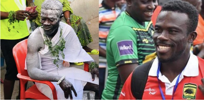 Former Asante Kotoko Player, Augustine Sefah turns a fetish priest - Photos