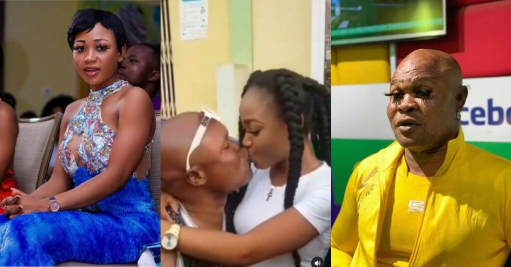 Akuapem Poloo and Bukom Banku spotted kissing in a new video