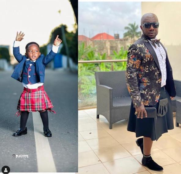 Meet the bandsome little boy mentorying Osebo's fashion sense - Photos