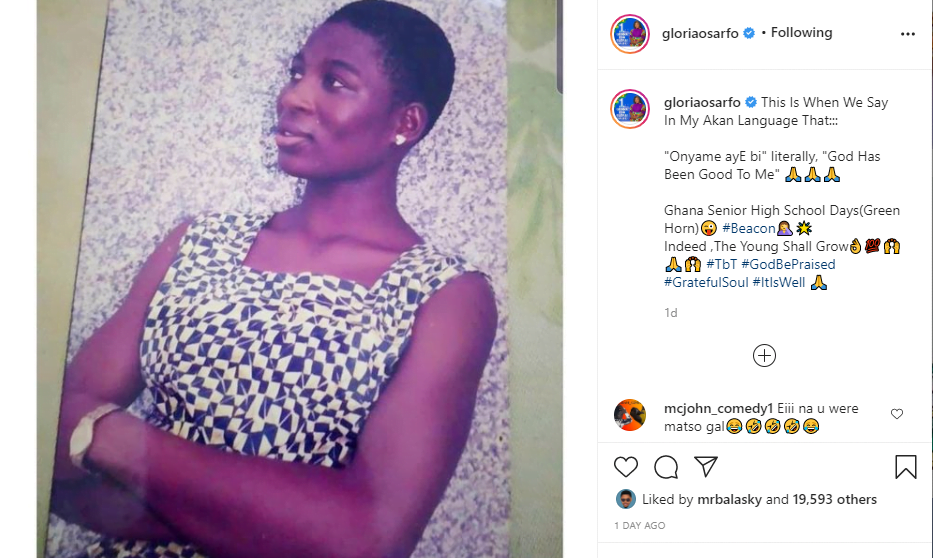 Throwback photos of Gloria Sarfo causes stir on the internet