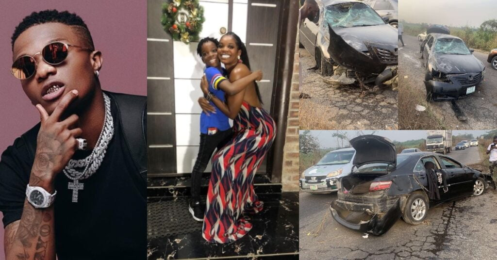 Wizkid's baby mama involves in a gory accident with their son - Photos
