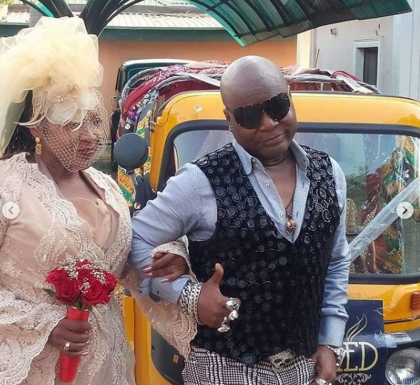 70-year-old man marries after being single for 40 years with 'Aboboyaa'